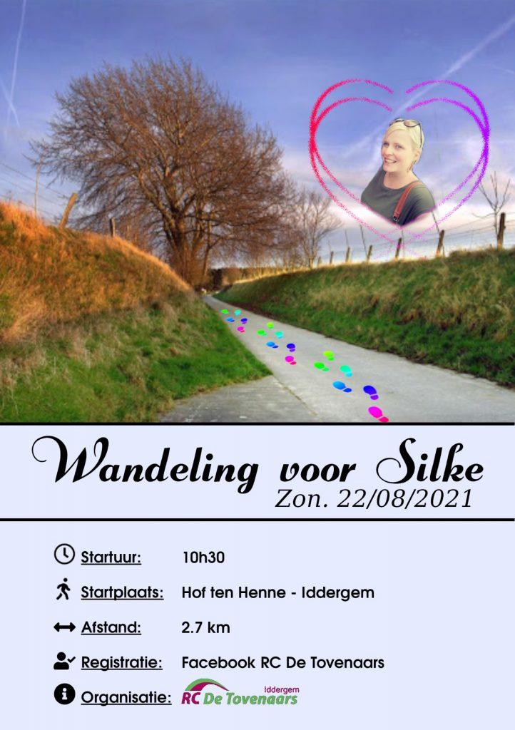 flyer wandeling voor silke